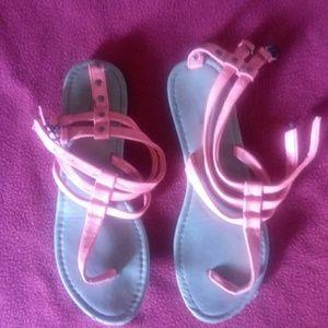 Charlotte Russe neon orange sandals